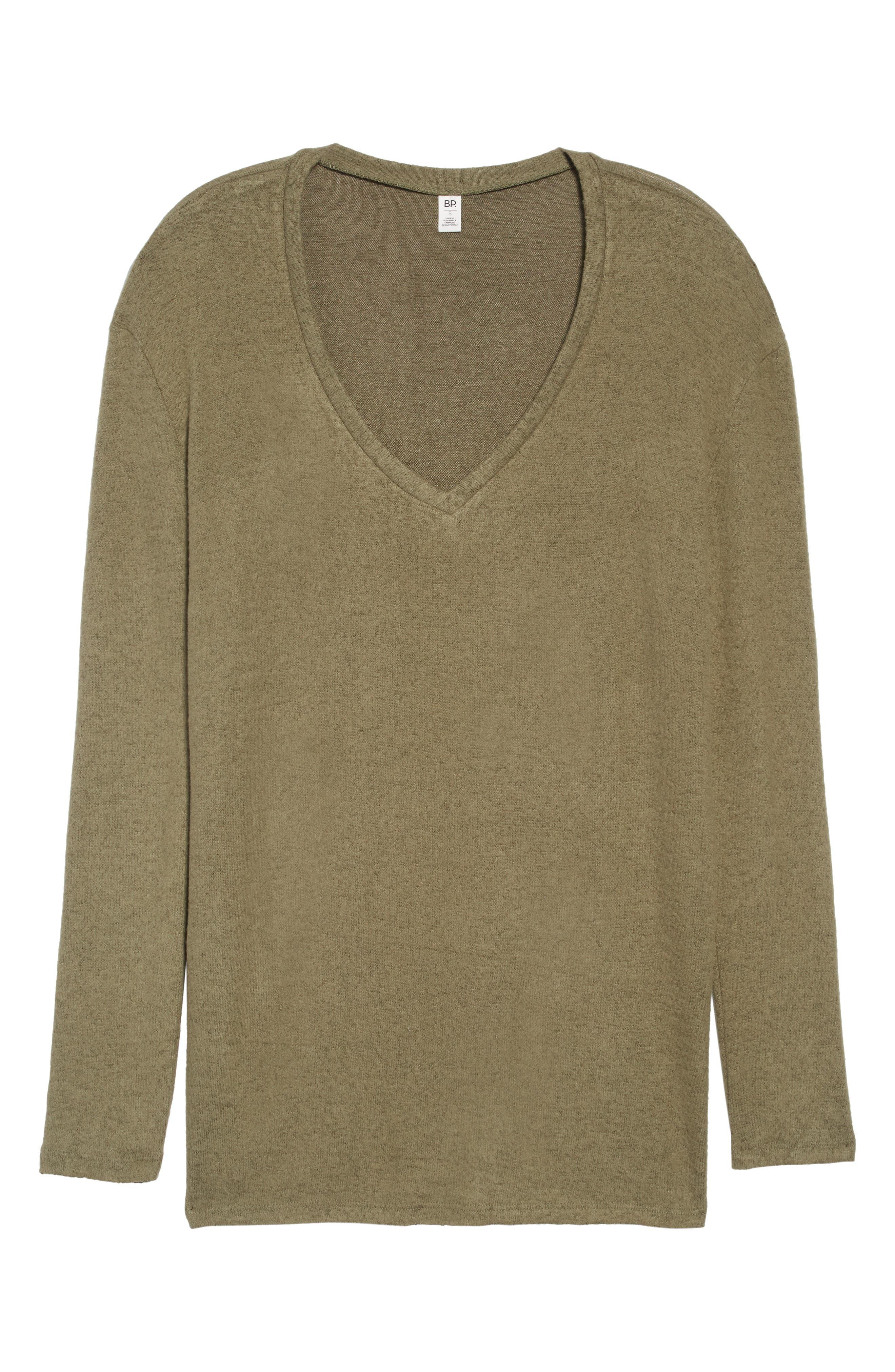 ,                             Cozy V-Neck Sweater,                             Alternate thumbnail 17, color,                             301