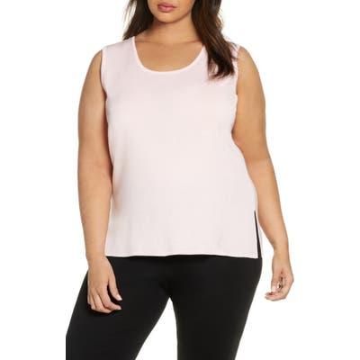 Plus Size Ming Wang Scoop Neck Knit Tank, Pink