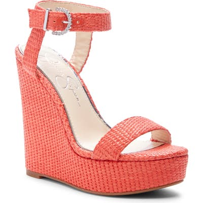Jessica Simpson Taery Wedge Sandal, Coral