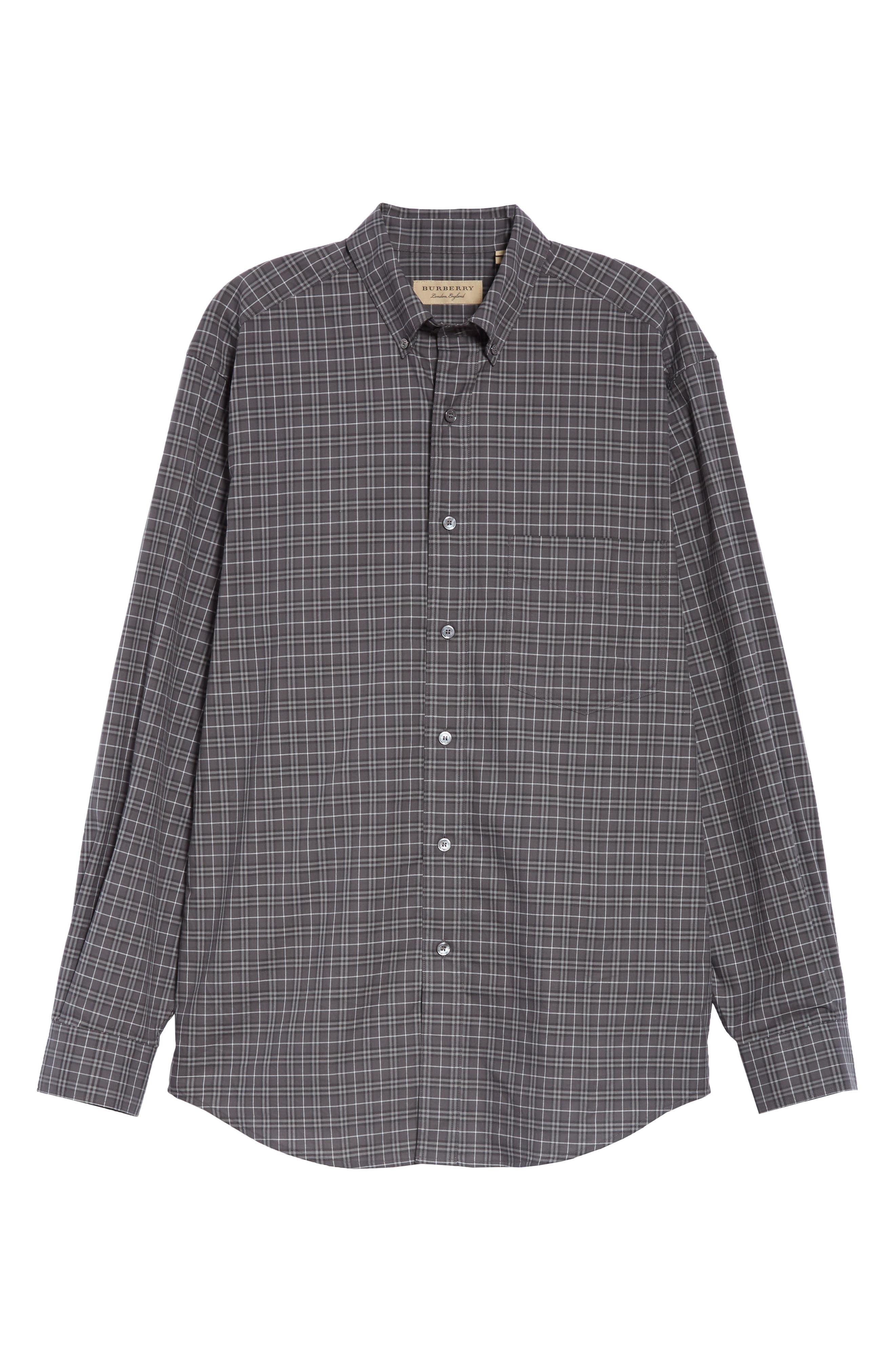 ,                             Jameson Slim Fit Check Sport Shirt,                             Alternate thumbnail 5, color,                             DARK GREY IP CHECK