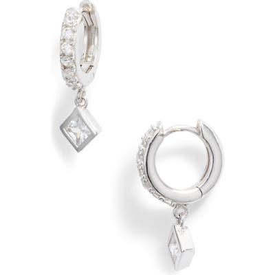 Argento Vivo Cubic Zirconia Pave Huggie Hoop Earrings