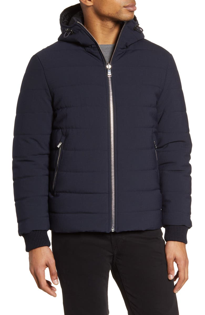 BOSS Cestra Reversible Water Repellent Jacket, Main, color, DARK BLUE