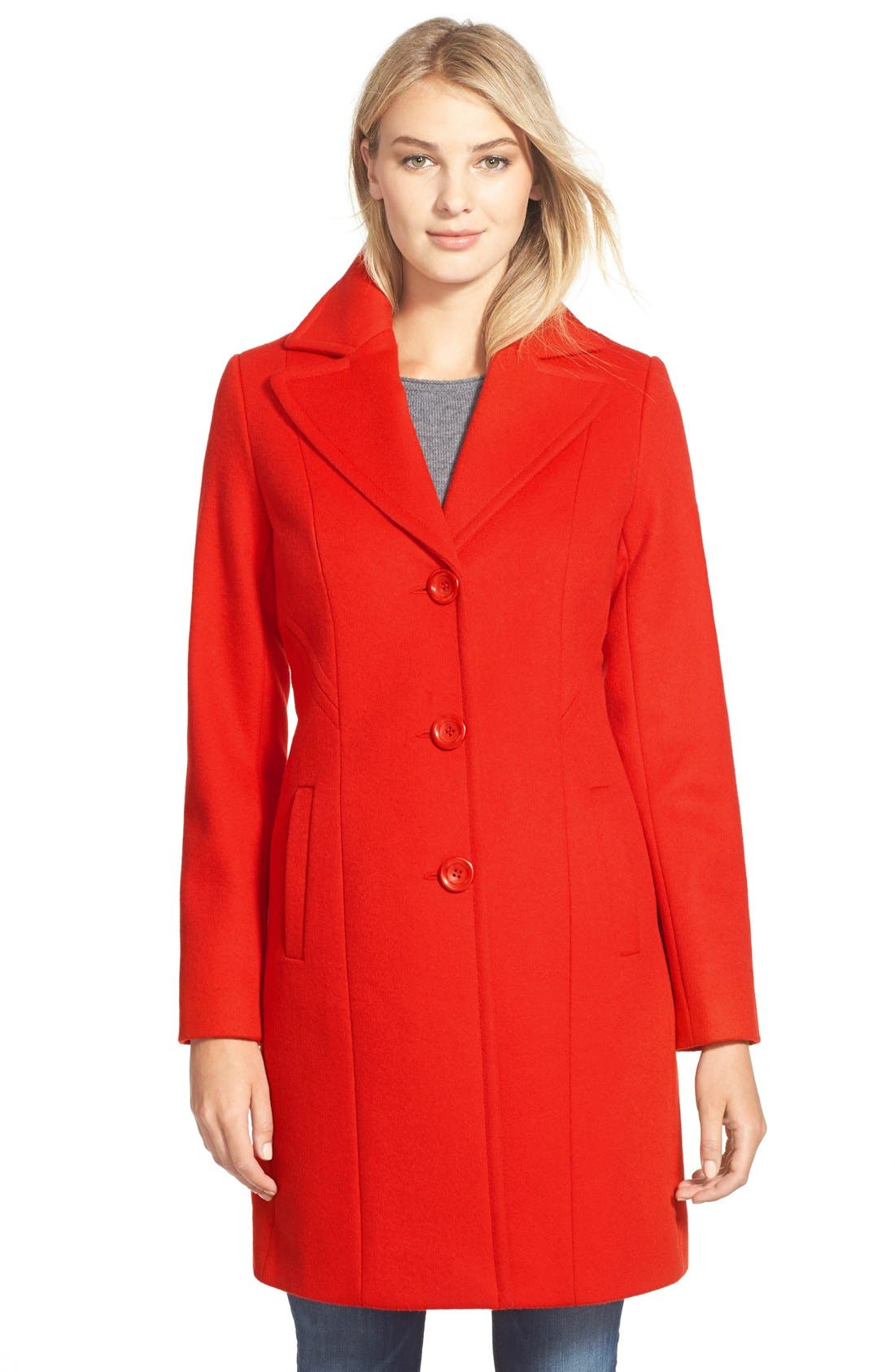 ,                             Single Breasted Wool Blend Coat,                             Main thumbnail 8, color,                             610