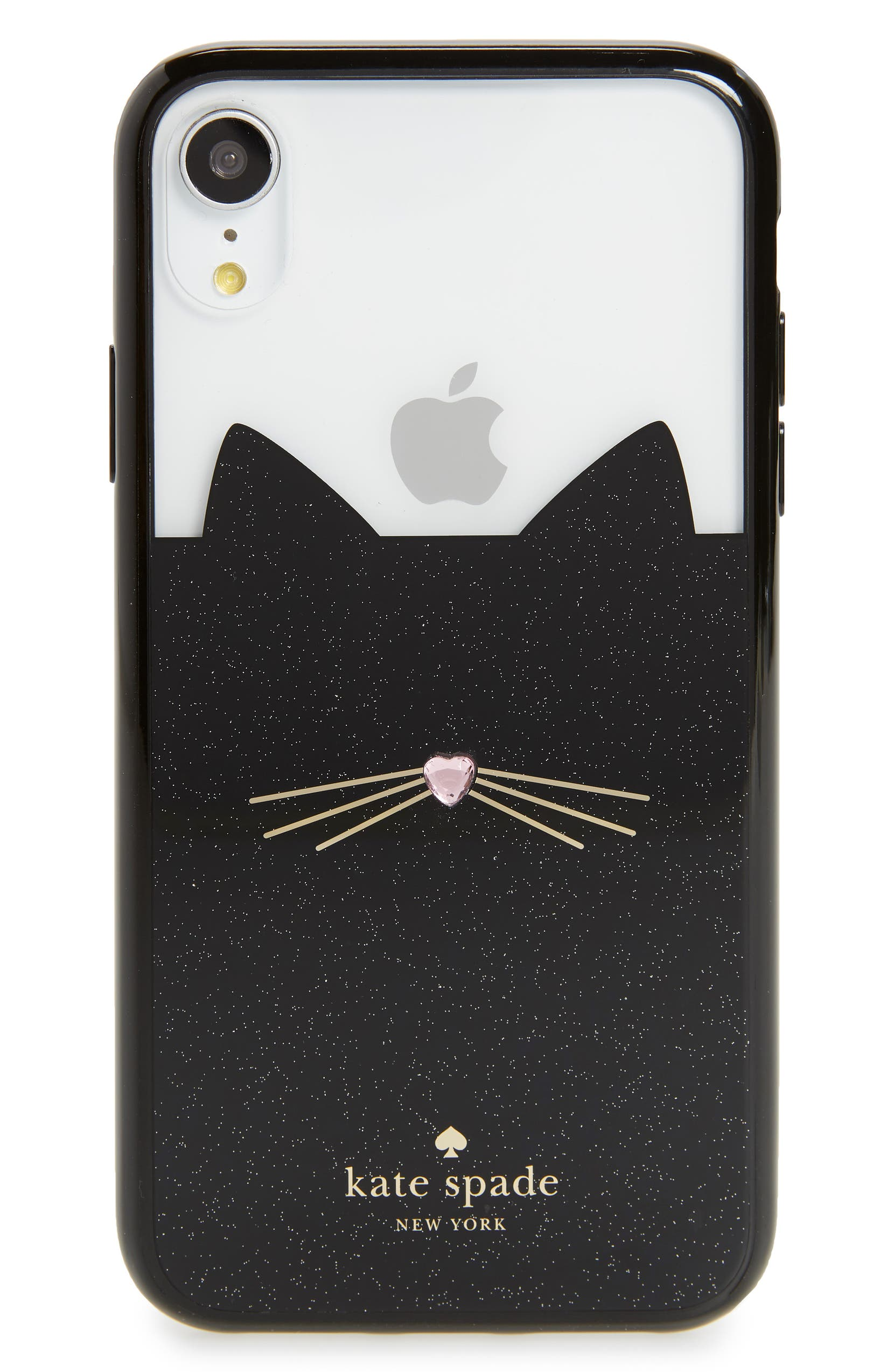 the best attitude e42c3 7a65f jeweled glitter cat iPhone X/Xs/Xs Max & XR case