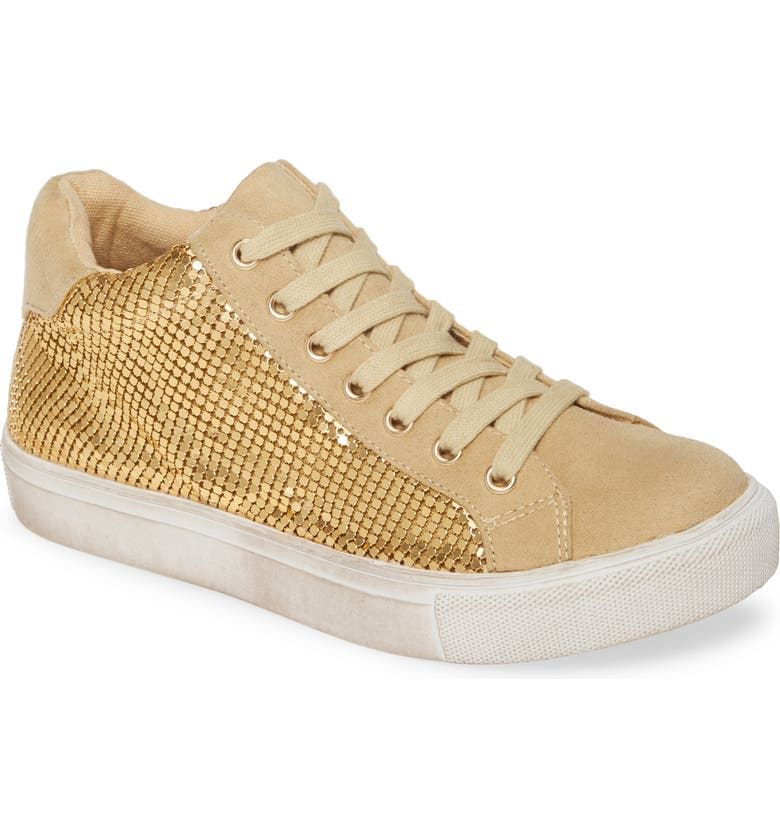 COCONUTS BY MATISSE Downtown Metallic Mesh Sneaker, Main, color, GOLD