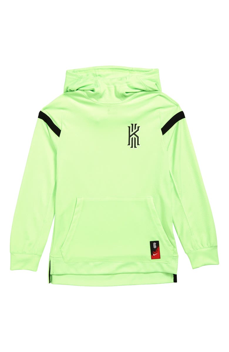 NIKE Dri-FIT Kyrie Basketball Hoodie, Main, color, LIME BLAST/ BLACK