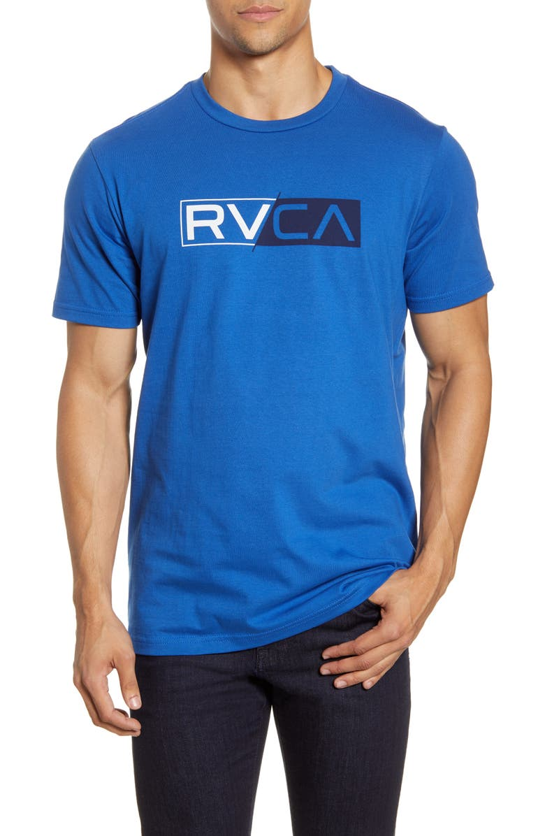 RVCA Lateral Logo T-Shirt, Main, color, BRIGHT BLUE