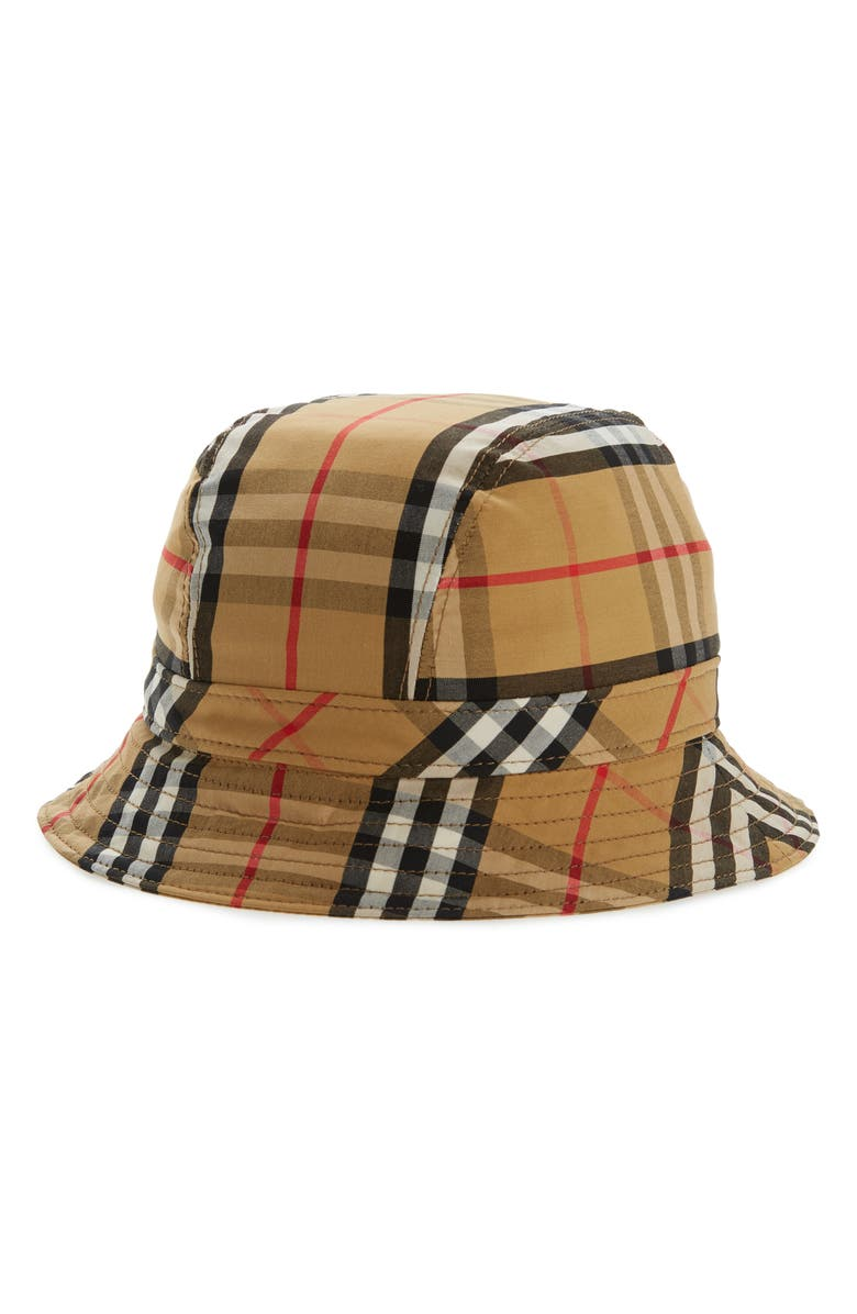 BURBERRY Vintage Check Bucket Hat, Main, color, ANTIQUE YEL IP CHK