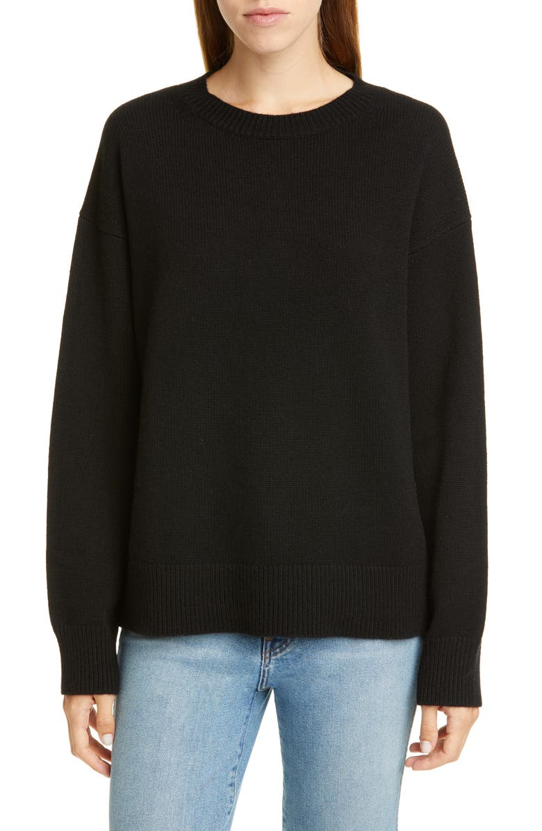 SOFIE D'HOORE Cashmere Sweater, Main, color, BLACK
