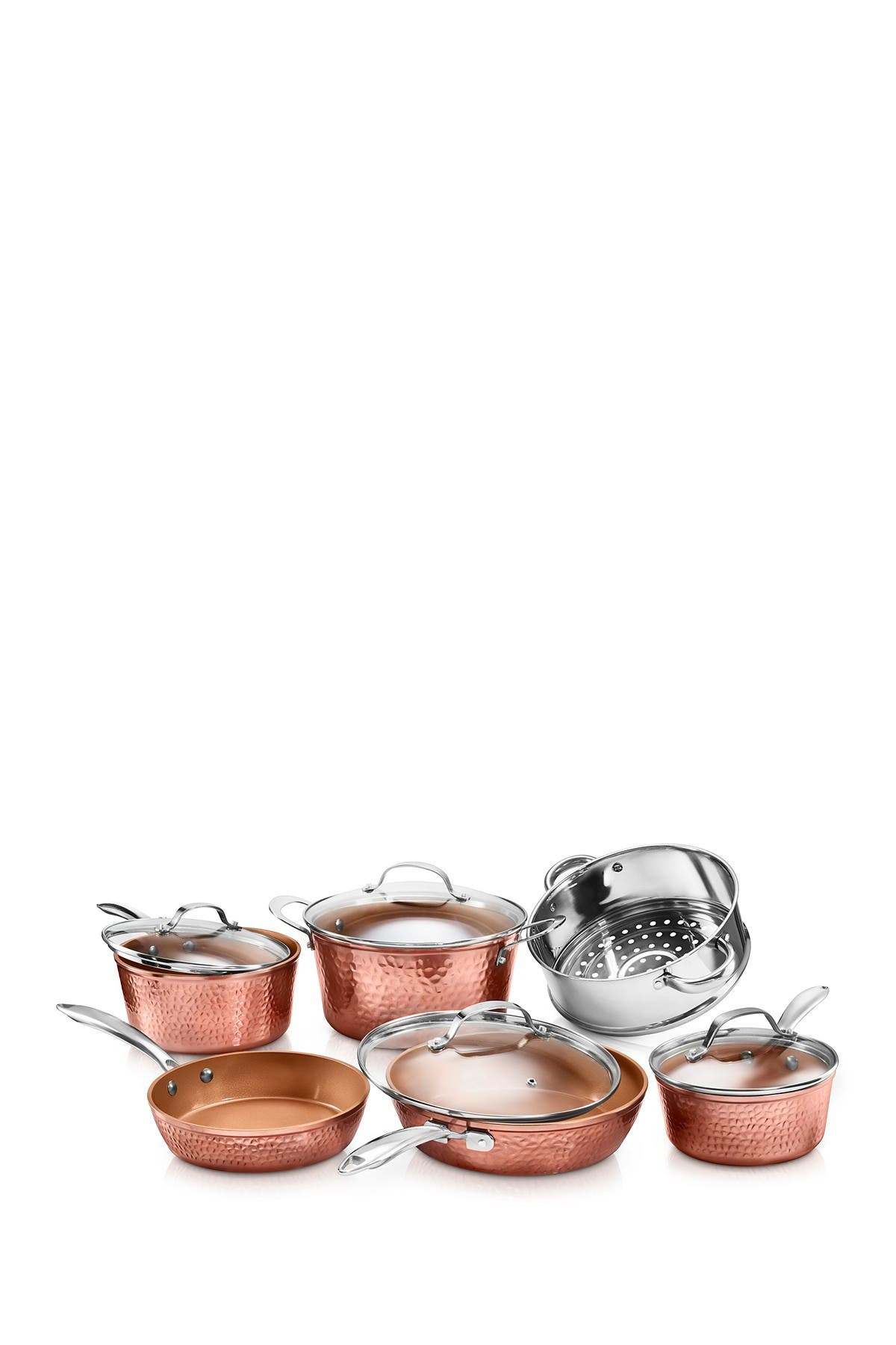 Image of Gotham Steel Hammered Non-Stick 10 Piece Cookware Set