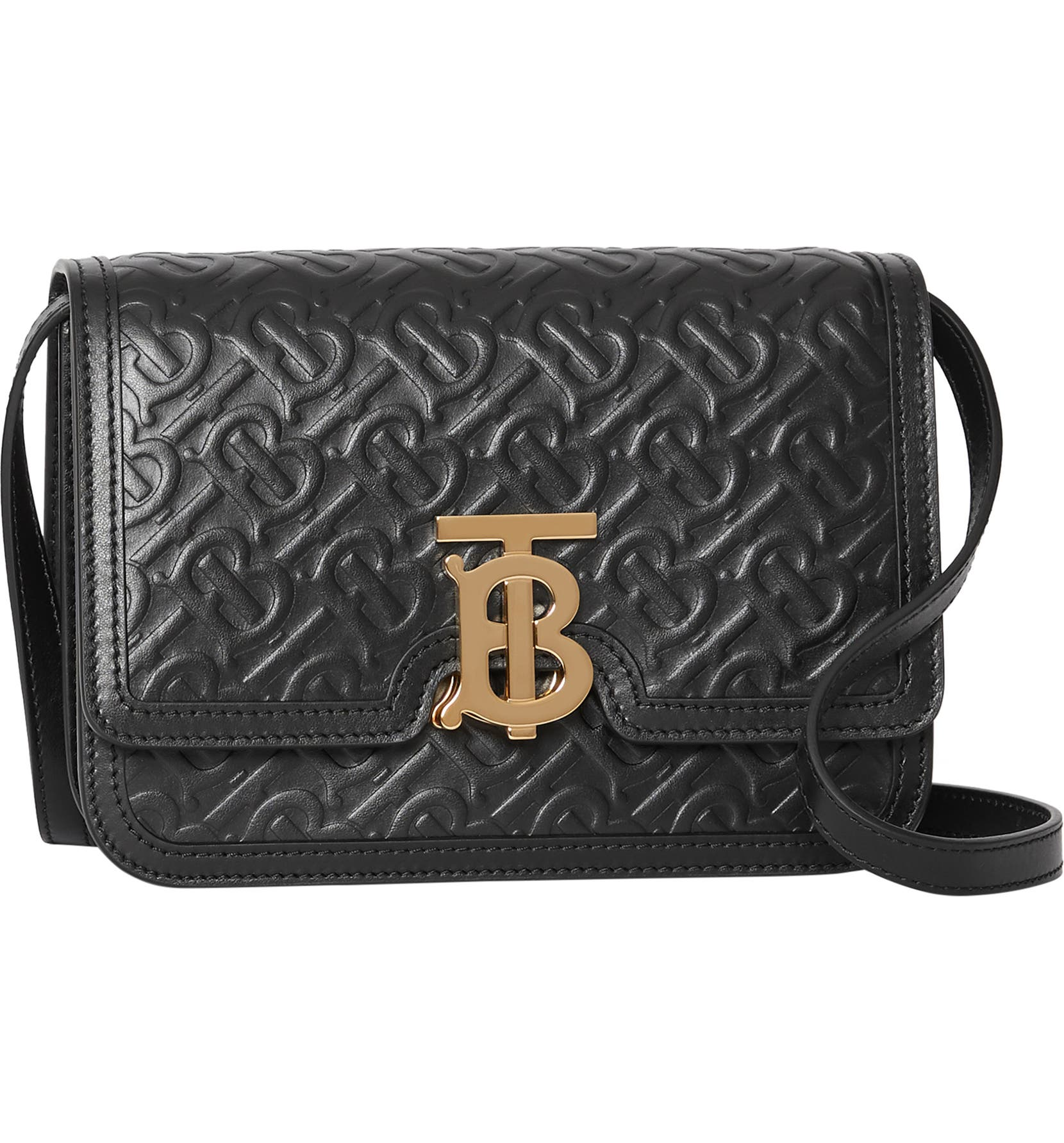 c85d47829f Burberry Small Monogram Leather TB Bag | Nordstrom