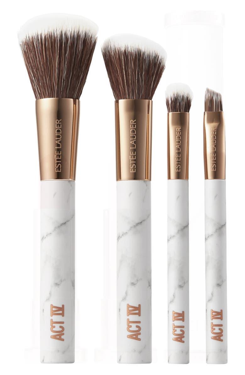 ESTÉE LAUDER Act IV Brushed by Fame Makeup Brush Set, Main, color, NO COLOR