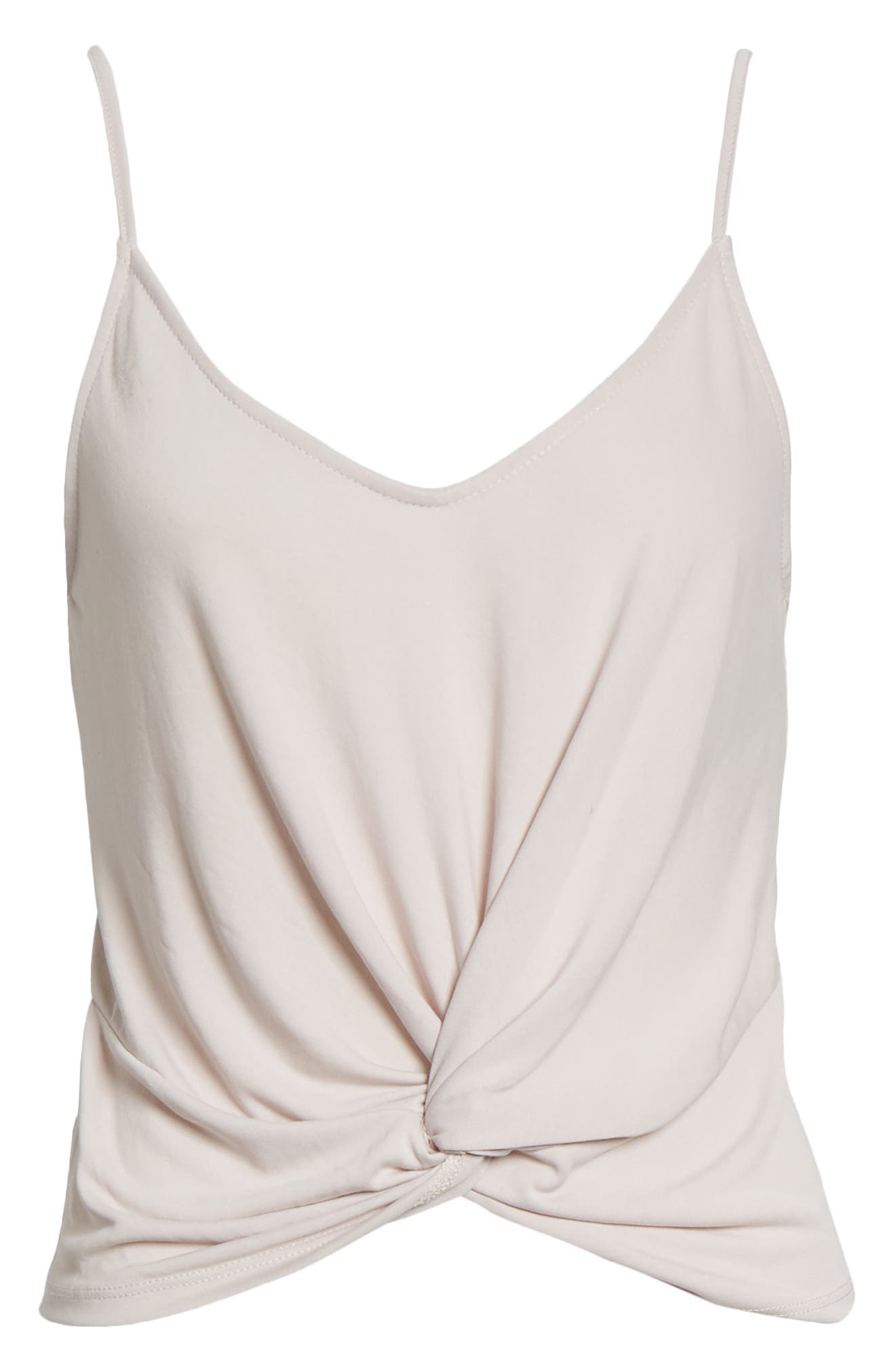 This cropped tank made from a buttery-soft modal blend twists at the hem to highlight the waist. Style Name: All In Favor Twist Hem Crop Tank. Style Number: 6051340 1. Available in stores.