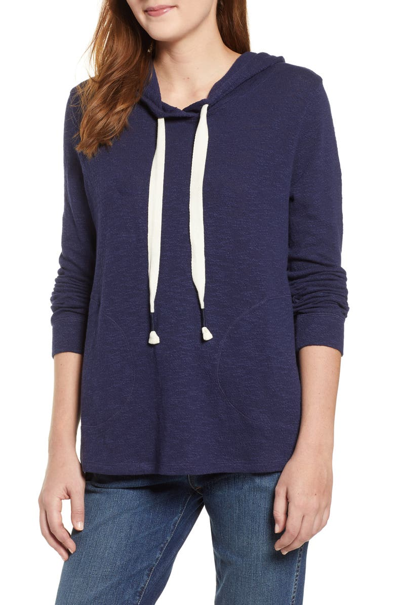 CASLON<SUP>®</SUP> Hoodie Pullover, Main, color, NAVY PEACOAT