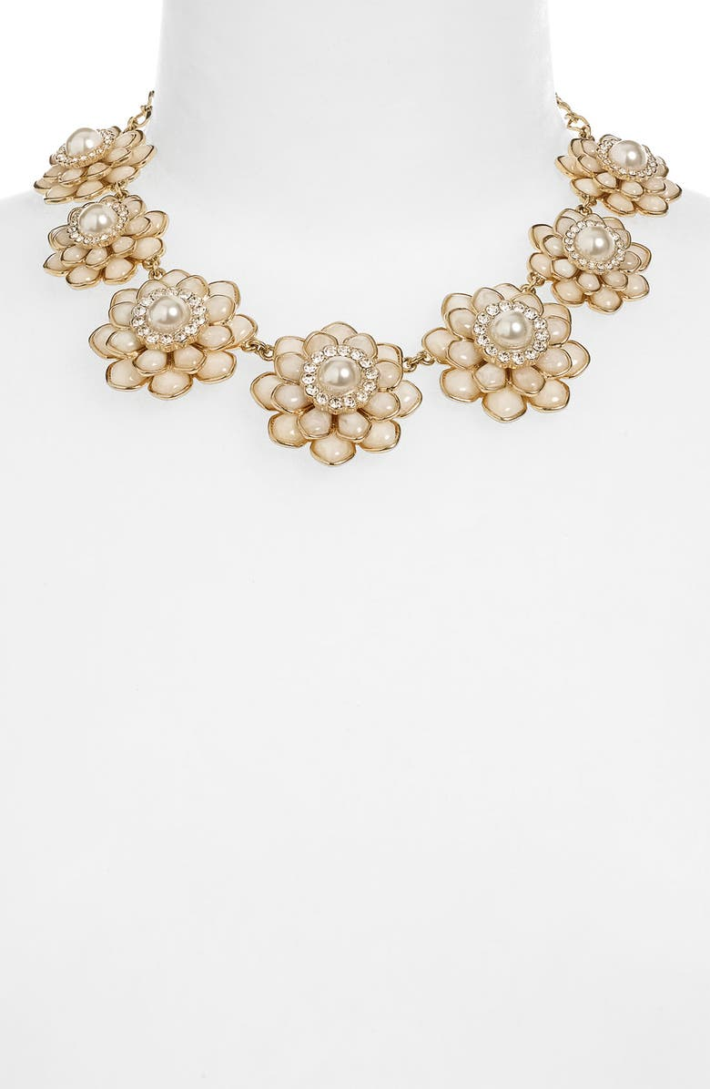 KATE SPADE NEW YORK 'sweet zinnia' floral necklace, Main, color, 900