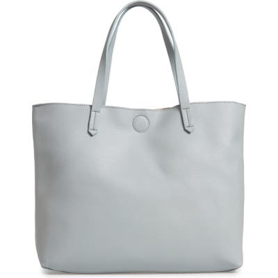Bp. Contrast Lining Faux Leather Tote - Blue