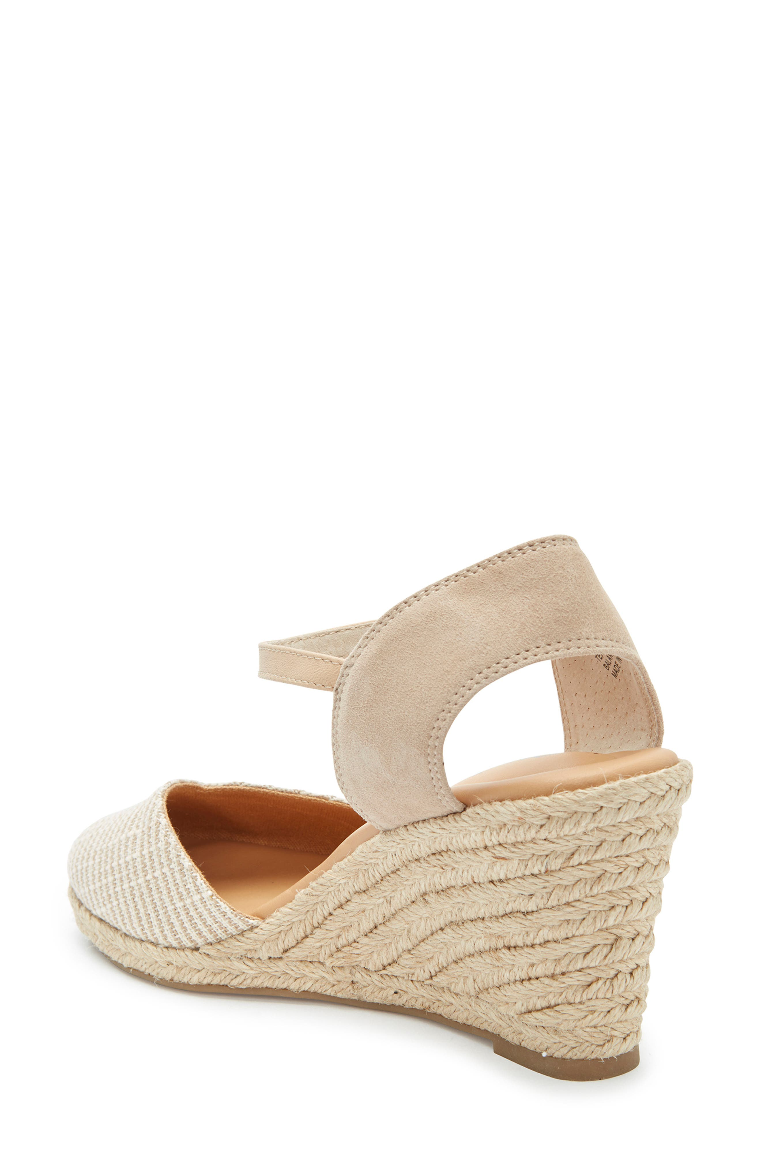 ,                             Brenna Espadrille Wedge Sandal,                             Alternate thumbnail 2, color,                             TAN FABRIC