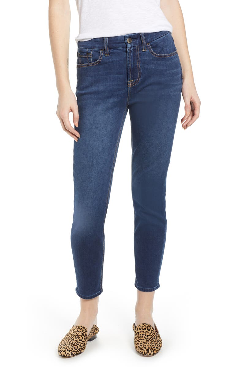 JEN7 BY 7 FOR ALL MANKIND Ankle Skinny Jeans, Main, color, CLASSIC MEDIUM BLUE
