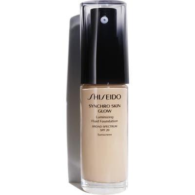 Shiseido Synchro Skin Glow Luminizing Fluid Foundation Broad Spectrum Spf 20 - N2