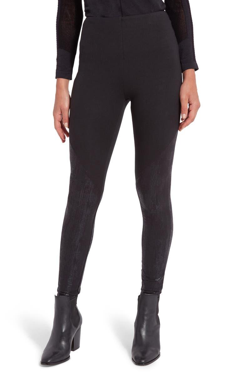 LYSSÉ Straight Leg High Waist Leggings, Main, color, LIQUID BLACK