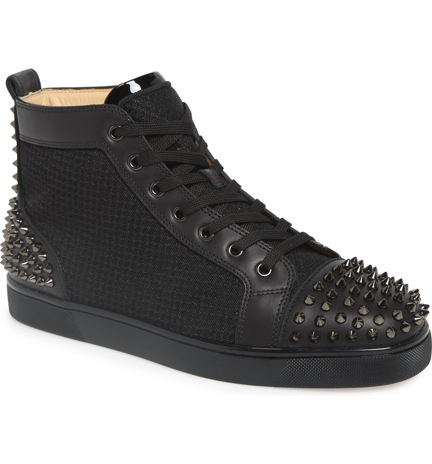super popular 58f49 6f278 Christian Louboutin AC Lou Spikes 2 High Top Sneaker (Men ...