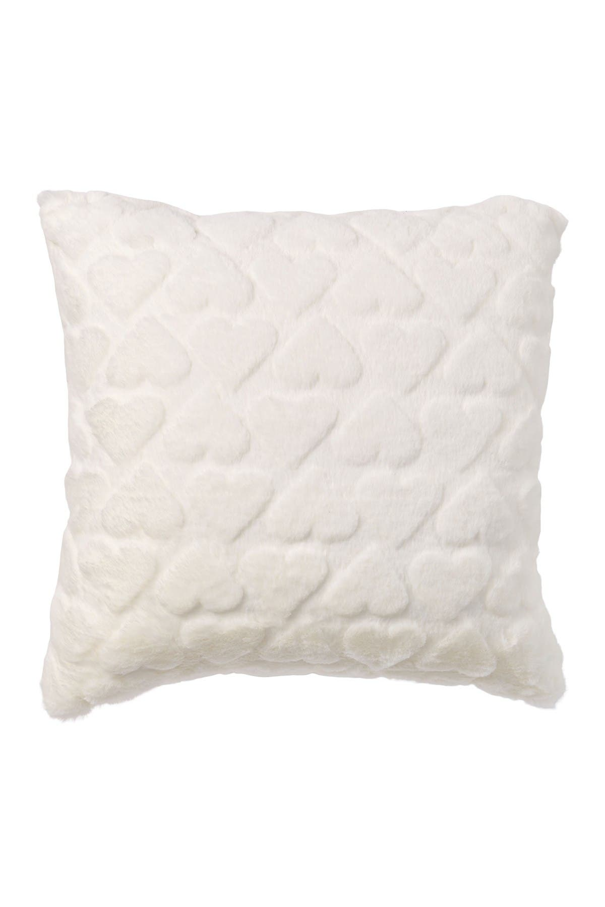 """Image of Nordstrom Rack Sheared Hearts Plush Pillow 16""""x16"""""""