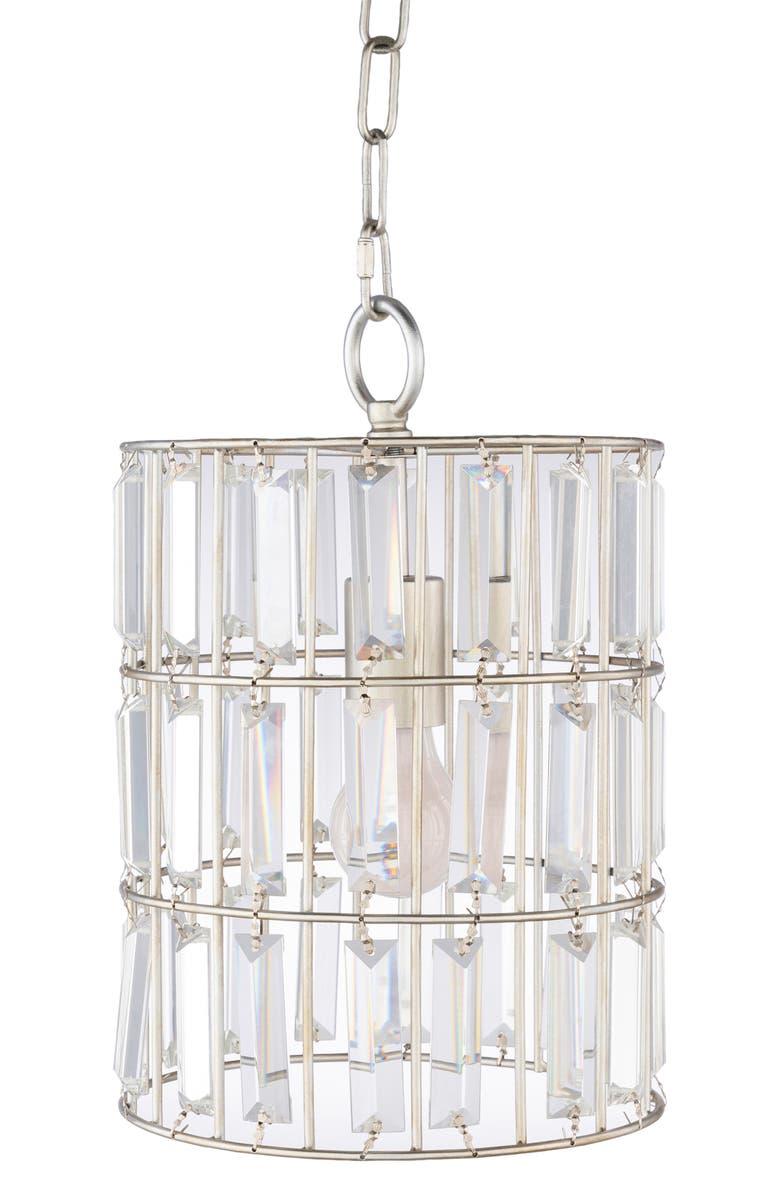SURYA HOME Priscilla Crystal Pendant Lamp, Main, color, SILVER