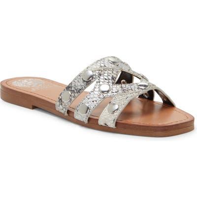 Vince Camuto Vazista Studded Slide Sandal, Grey