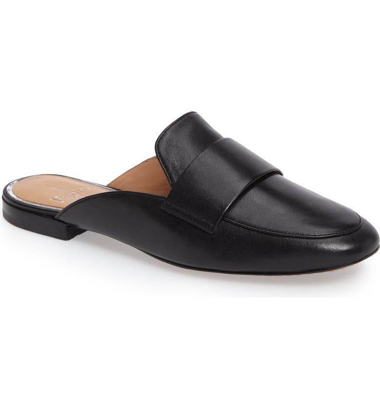 LINEA PAOLO Annie Loafer Mule, Main, color, BLACK LEATHER
