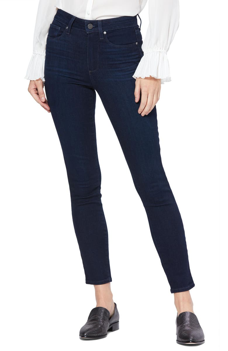 PAIGE Transcend Hoxton High Waist Ankle Skinny Jeans, Main, color, TELLURIDE