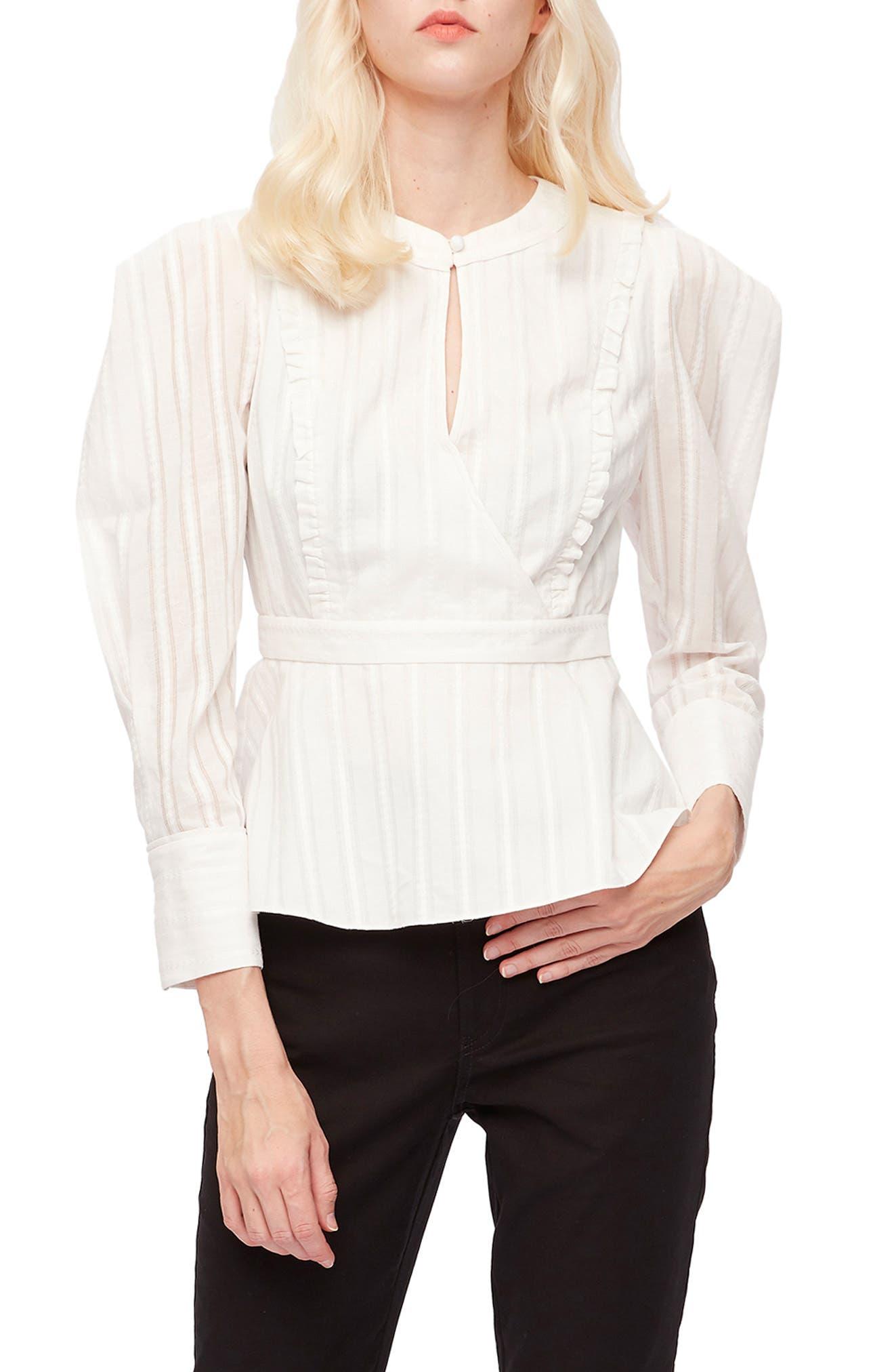 Erin Puff Sleeve Cotton Blouse