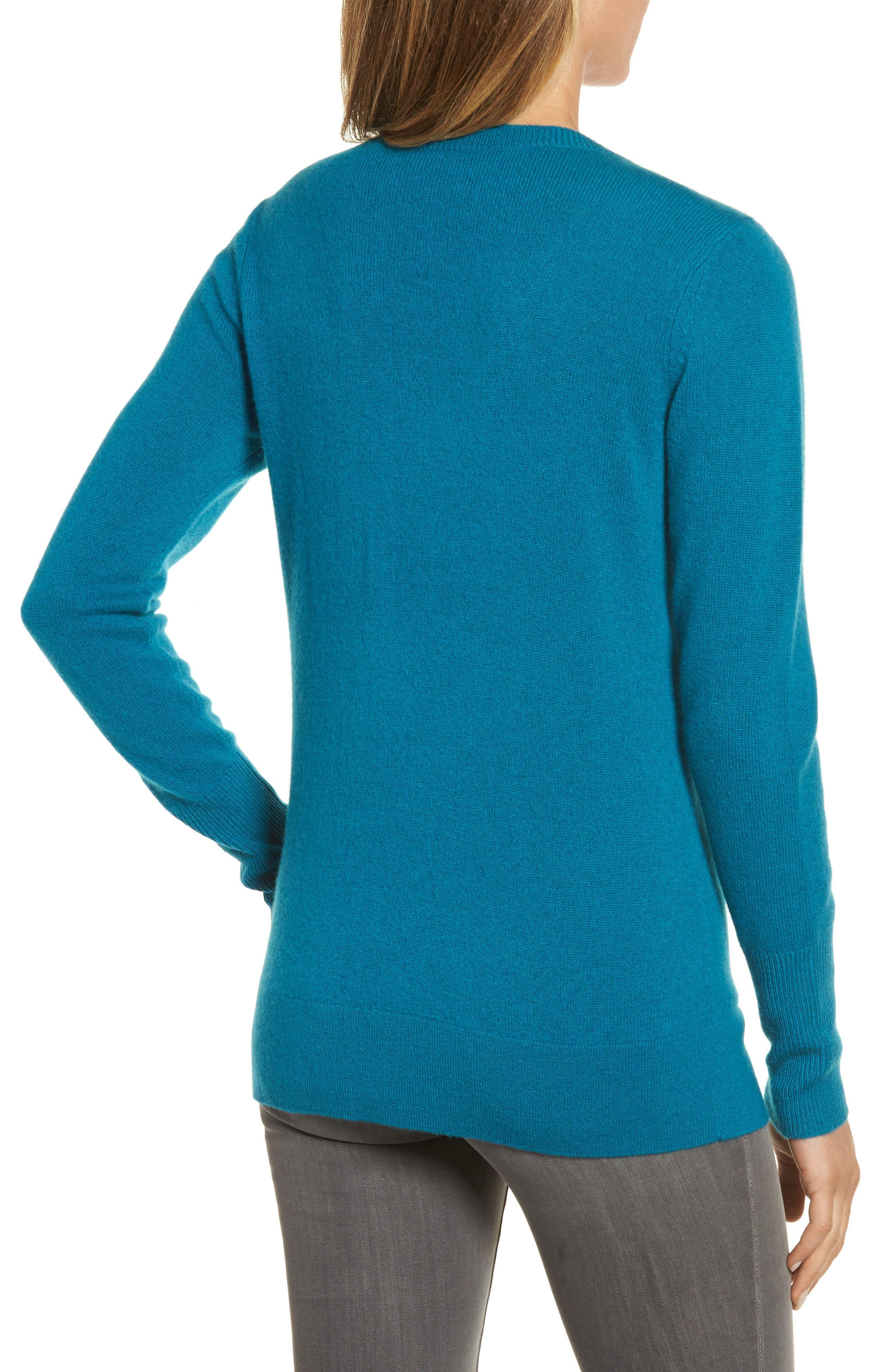 ,                             V-Neck Cashmere Sweater,                             Alternate thumbnail 42, color,                             449