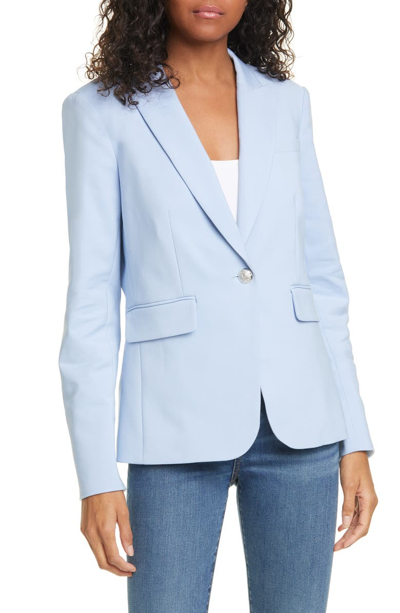 VERONICA BEARD Cutaway Dickey Blazer, Main, color, BLUE