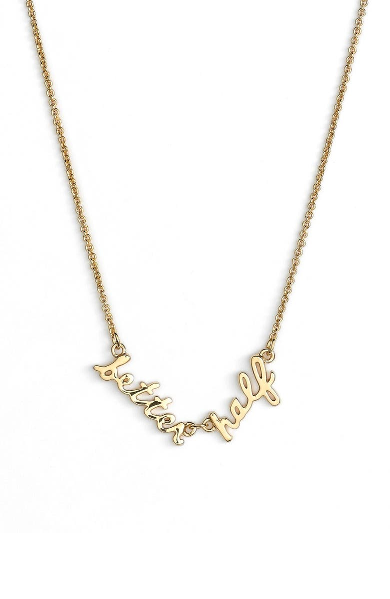 KATE SPADE NEW YORK 'say yes - better half' pendant necklace, Main, color, 710