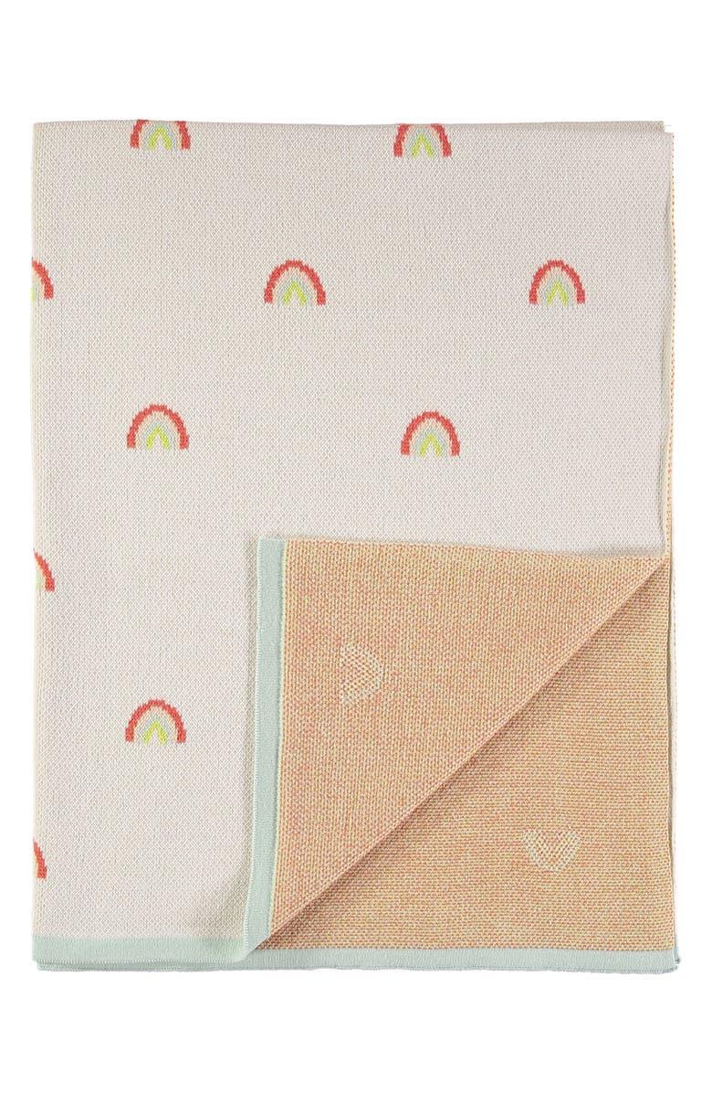 MERI MERI Organic Cotton Knit Blanket, Main, color, 108