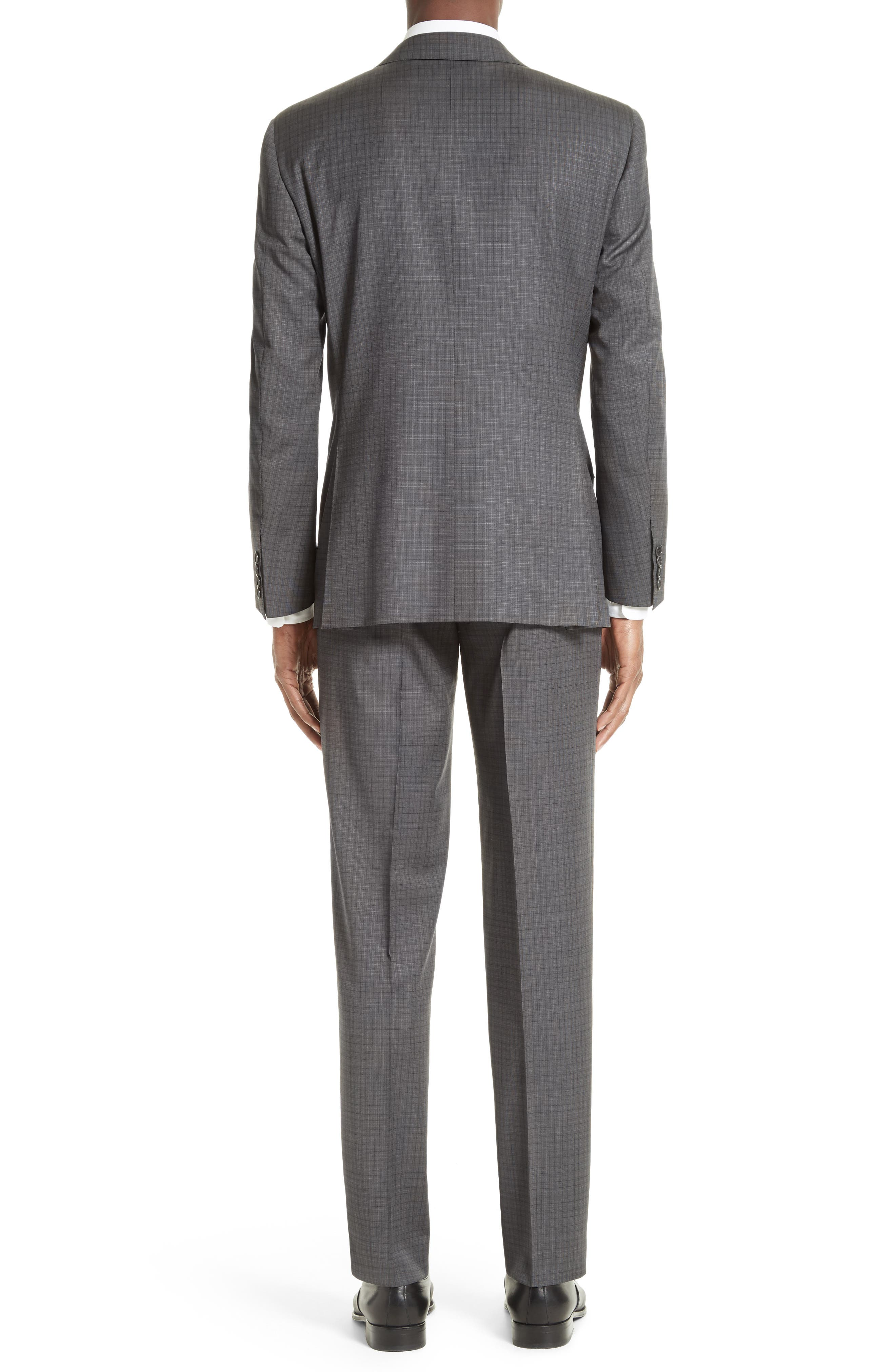 ,                             Classic Fit Check Wool Suit,                             Alternate thumbnail 2, color,                             GREY