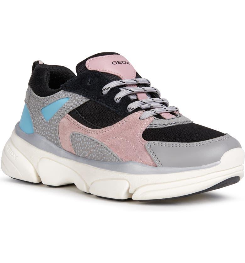 GEOX Lunare 1 Sneaker, Main, color, GREY/ ROSE
