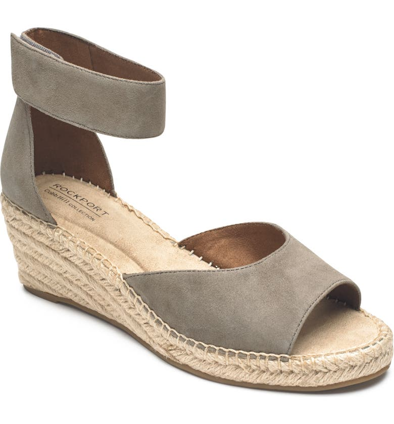 ROCKPORT COBB HILL Kairi Wedge Sandal, Main, color, TAUPE SUEDE