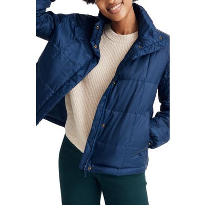 Madewell Travel Buddy Packable Puffer Jacket, Blue