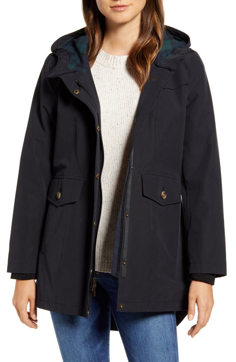PENDLETON Port Madison Hooded Raincoat, Main, color, NAVY