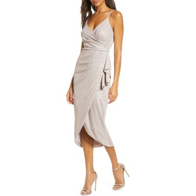 Vince Camuto Glitter Knit High/low Cocktail Dress, Pink