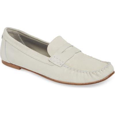 Aquatalia Lesley Weatherproof Loafer, White