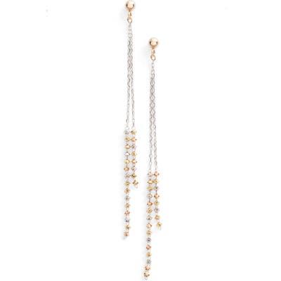 Poppy Finch Double Shimmer Linear Drop Earrings
