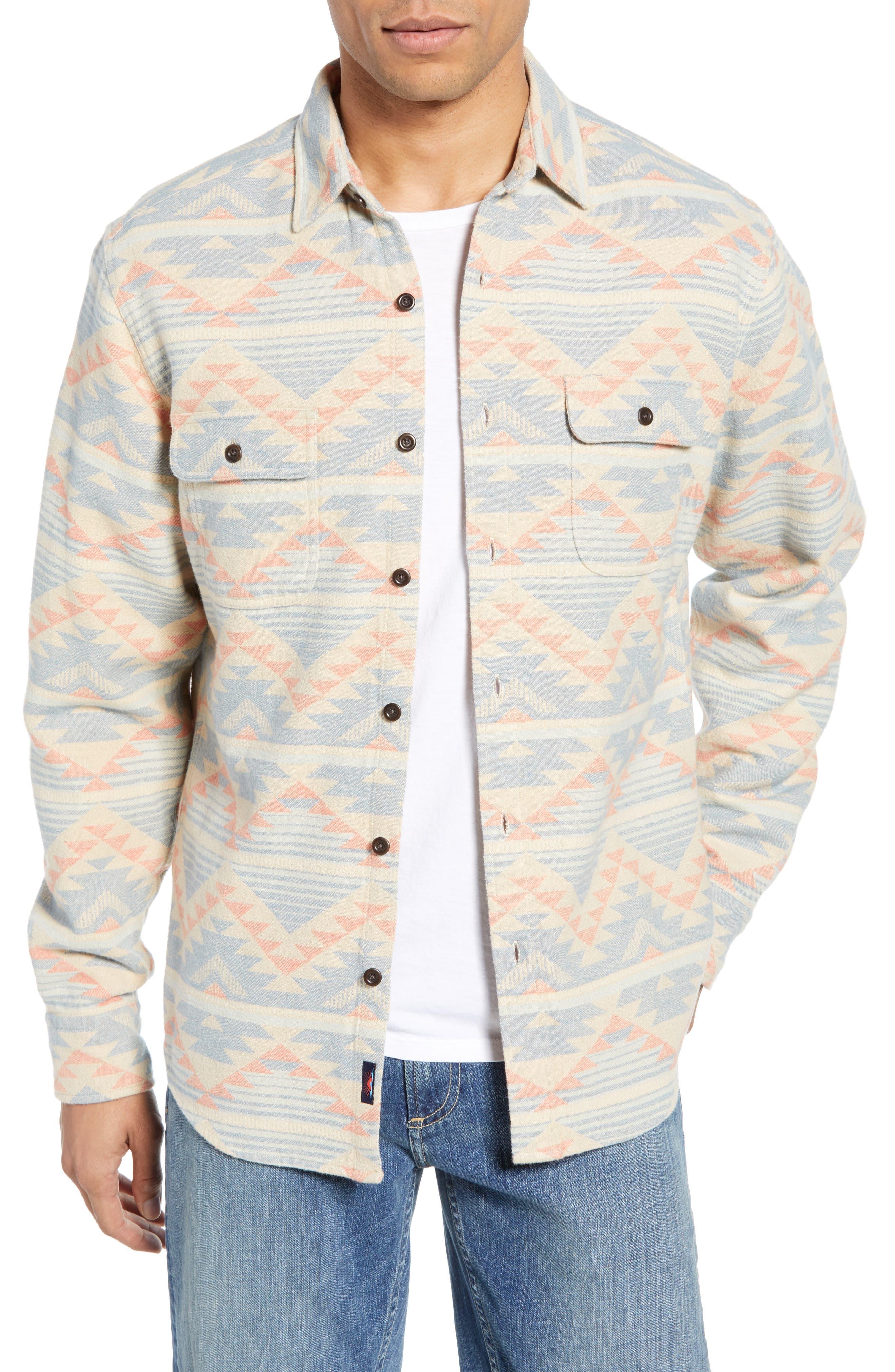 Faherty Belmar Organic Cotton Shirt, Beige