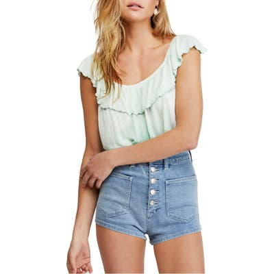 Free People Cora Lee Off The Shoulder Top, Green