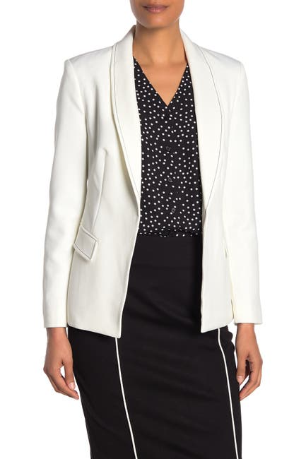 Image of T Tahari Stitch Detail Open Blazer