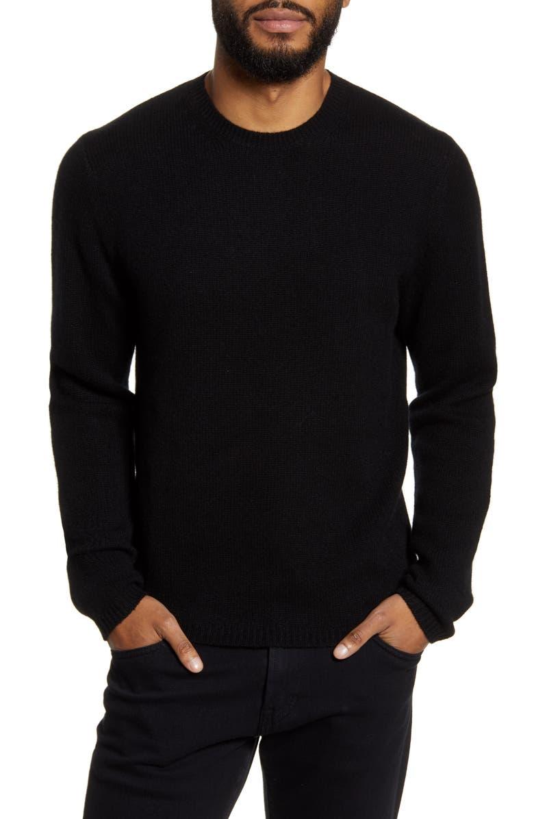 VINCE Slim Fit Crewneck Cashmere Sweater, Main, color, 001