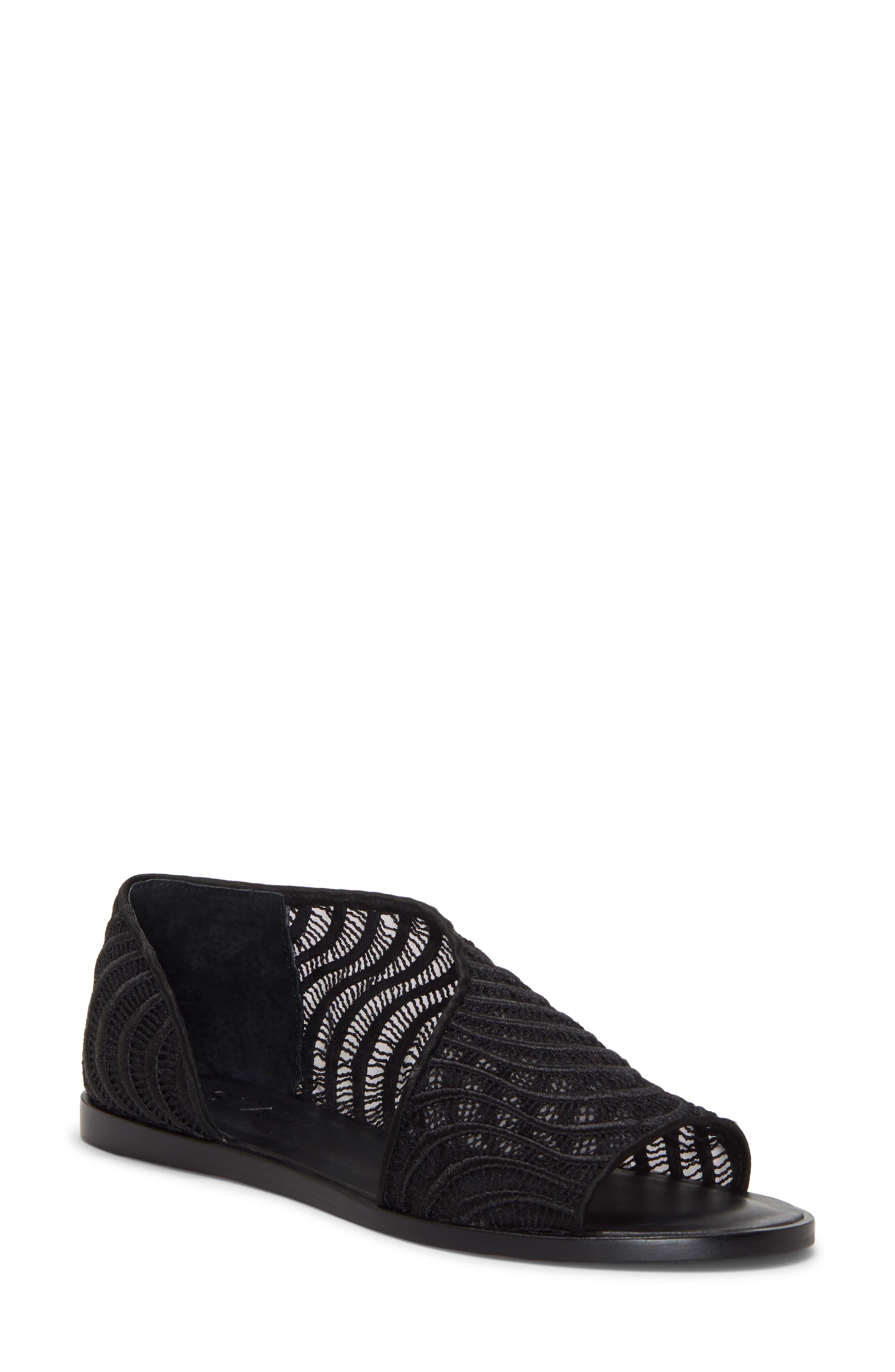 Celvin Sandal, Main, color, BLACK/ BLACK LEATHER