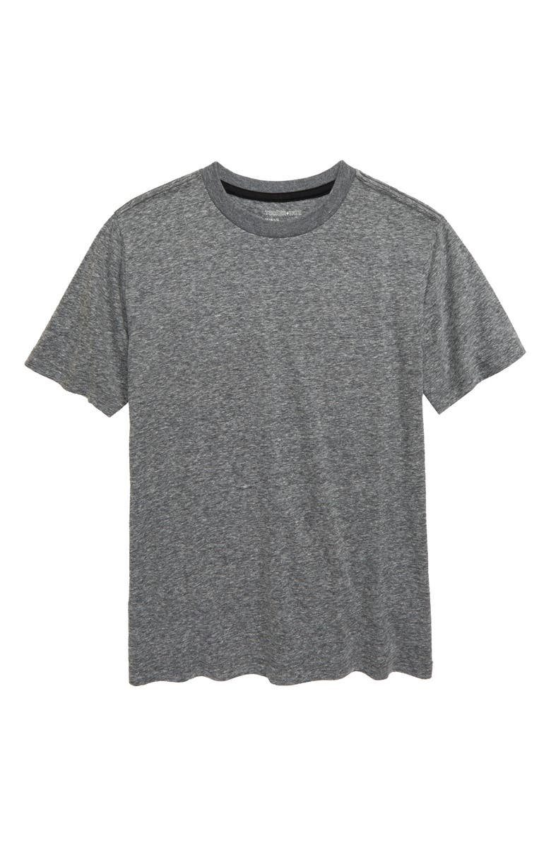 TUCKER + TATE Essential Heathered T-Shirt, Main, color, BLACK HEATHER
