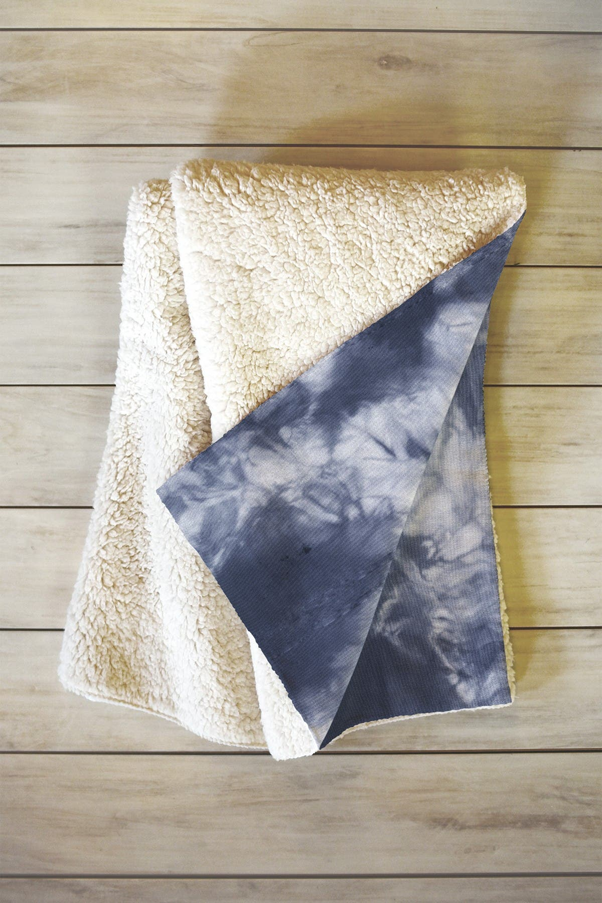 "Image of Deny Designs Amy Sia Navy Tie Dye Blanket - 60"" x 50"""